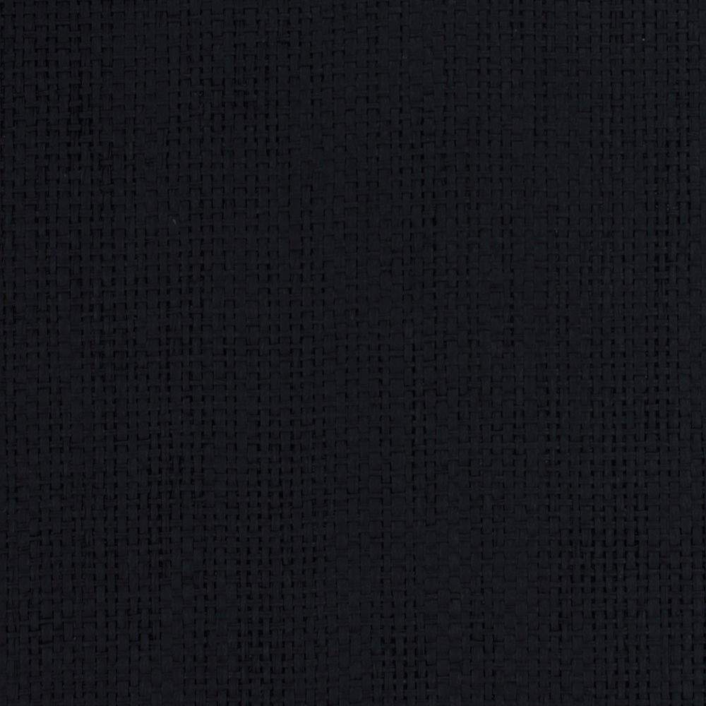 Midnight Black Grasscloth Wallpaper R4608