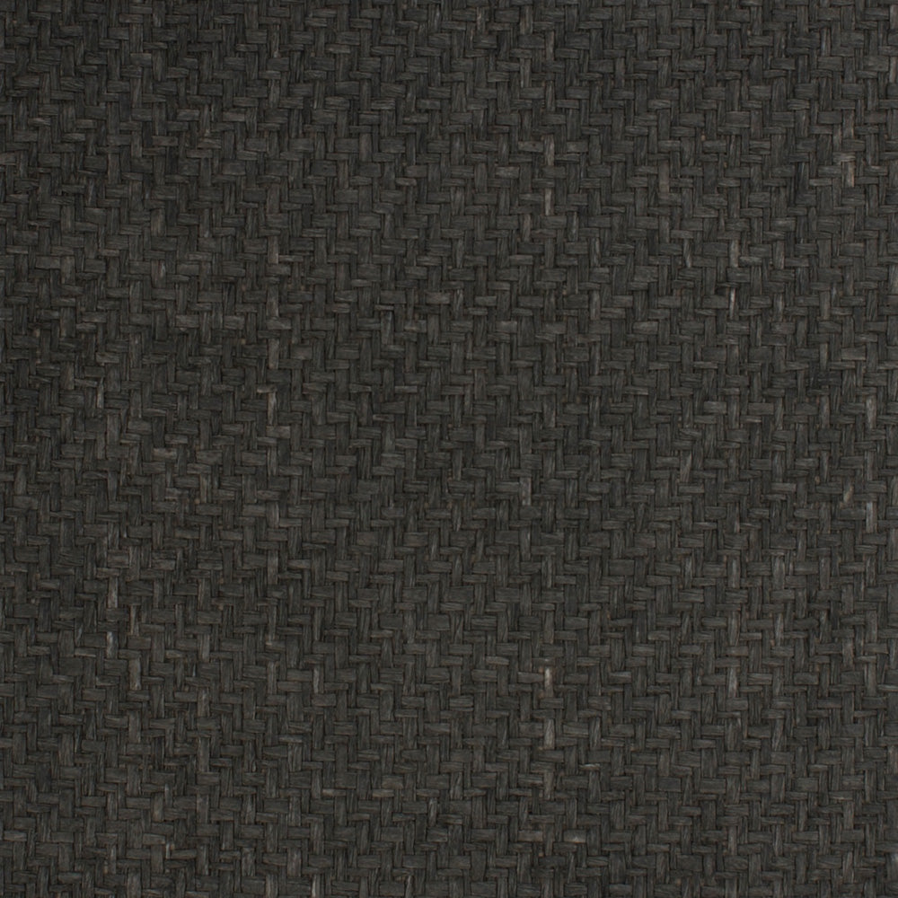 Natural Basket Black and Grey Grasscloth Wallpaper R4638