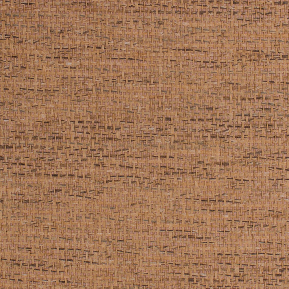 Loose Weave Brown and Beige Grasscloth Wallpaper R4648