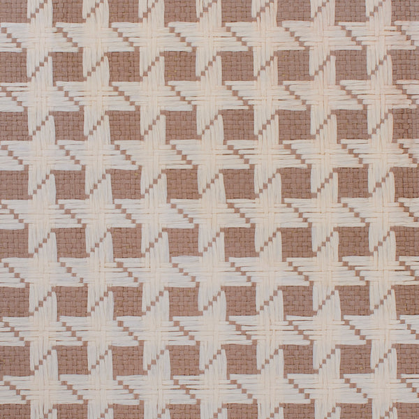 Starry Basketweave Brown and Beige Grasscloth Wallpaper R4610