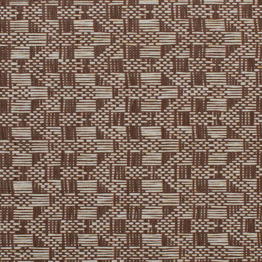 Retro Weave Brown and Beige Grasscloth Wallpaper R4611