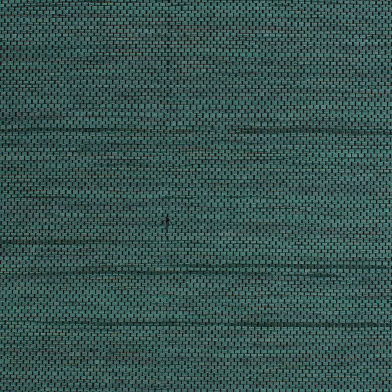Honeycomb Green and Black Grasscloth Wallpaper R4615