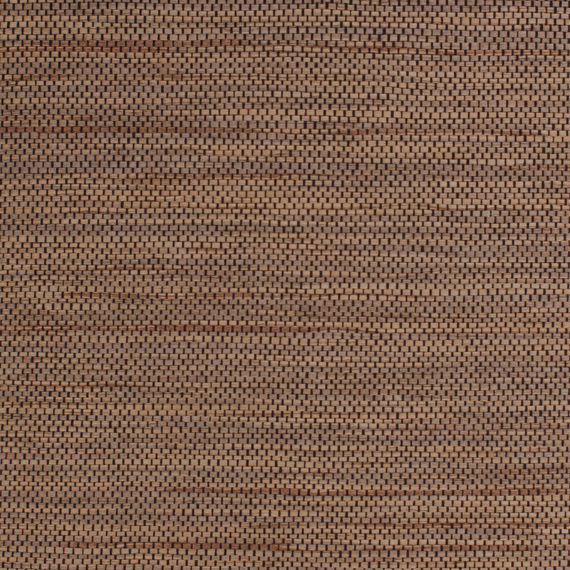 Brown and Black Grasscloth Wallpaper R4616 | Elegant Home Wallcovering