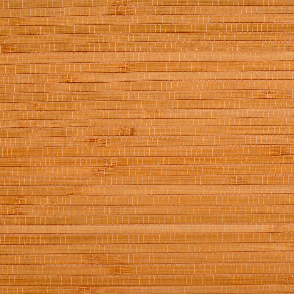 Bamboo Stack Orange and Beige Grasscloth Wallpaper R4653
