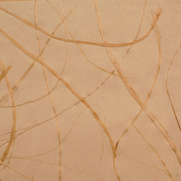 Abstract Swirling Papyrus Beige and Yellow Grasscloth Wallpaper R4643