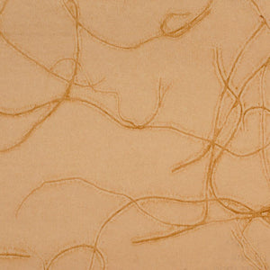 Abstract Swirling Beige and Yellow Grasscloth Wallpaper R4626