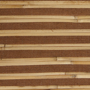 Bamboo Brown and Yellow Grasscloth Wallpaper R4641