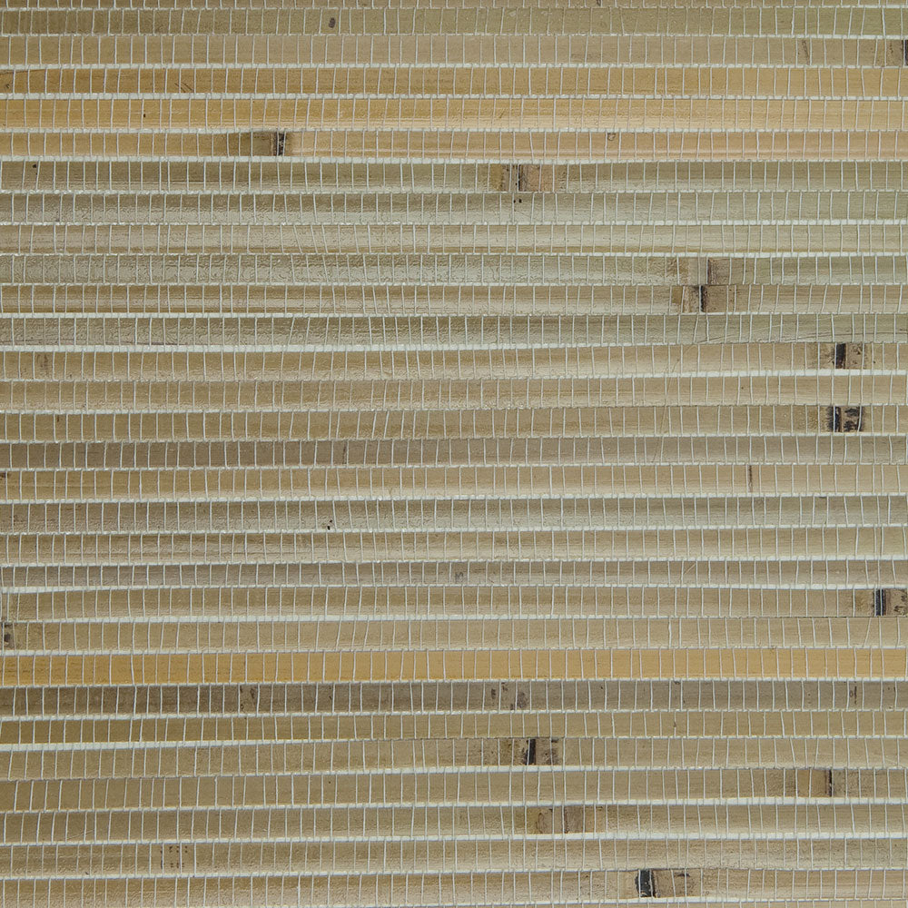 Bamboo Stack Beige and Yellow Grasscloth Wallpaper R4629