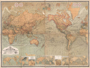Retro World Map M9166