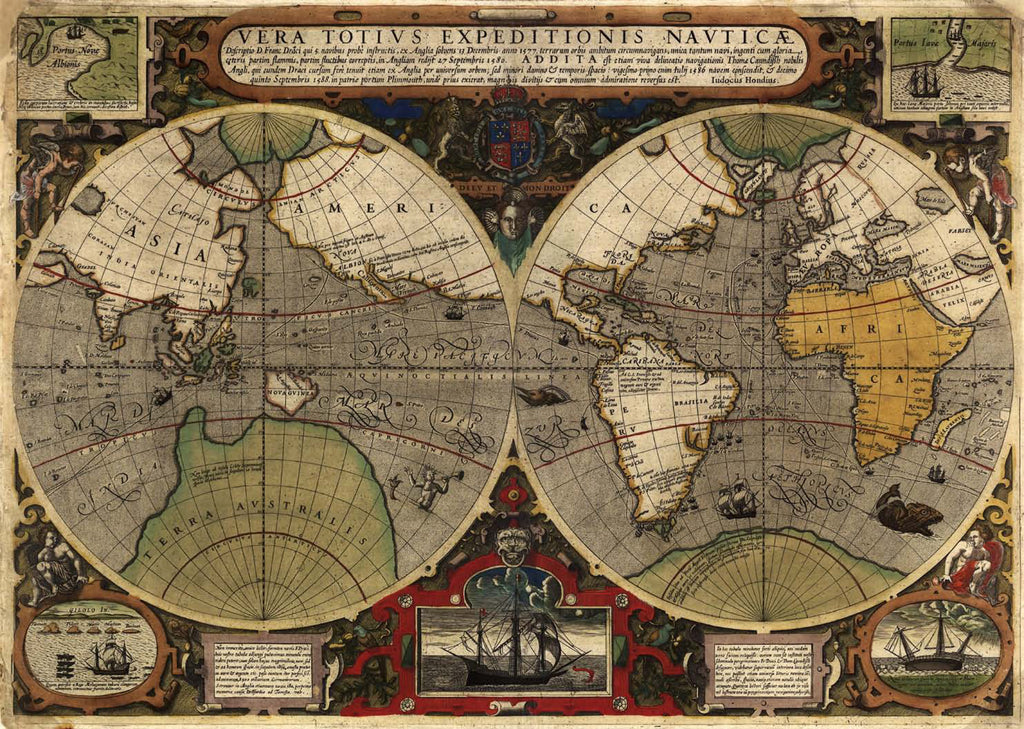 Antique World Map M9167