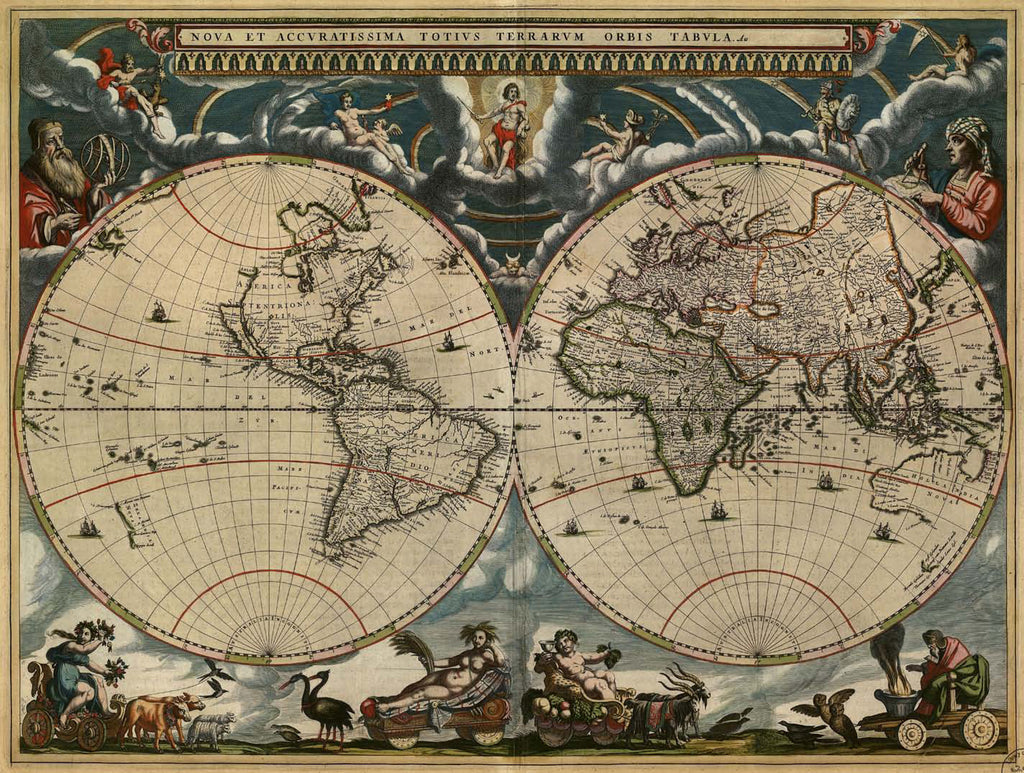 Historic World Map M9168