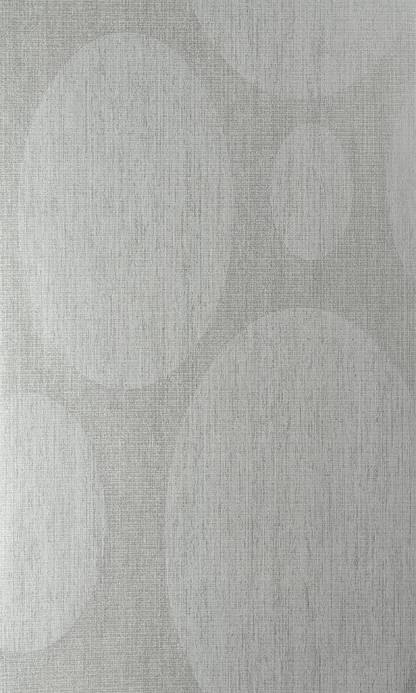 Contemporary Geometric Metallic Circle White and Cream Wallpaper R3933