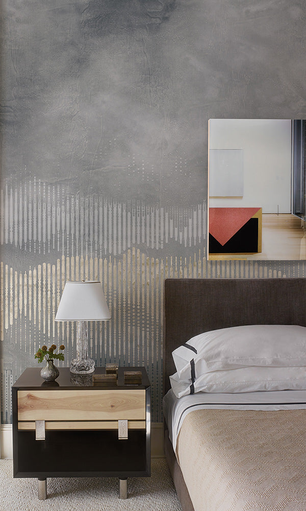 geometric abstract mountains mural wallpaper