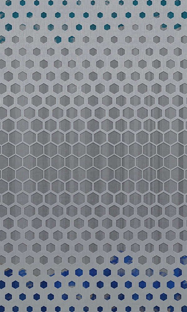 geometric hexagons mural wallpaper