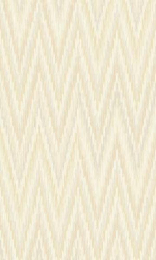 Metallic Static Zigzag Abstract Wallpaper Taupe and White R4683
