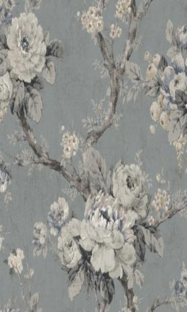vintage floral wallpaper Grey Floral Wallpaper R4824 | Vintage Home Interior