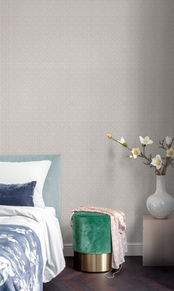 geometric bedroom wallpaper