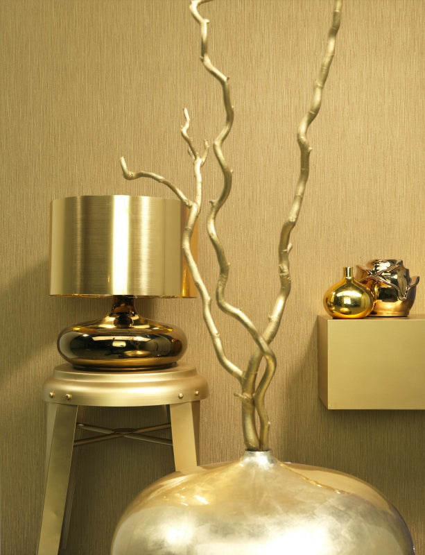 Plain Golden Brown Cascade Wallpaper R1280