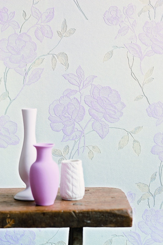 Playful Pink Floral Wallpaper SR1570
