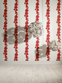 Passion Red Contemporary Rose Wallpaper SR1764