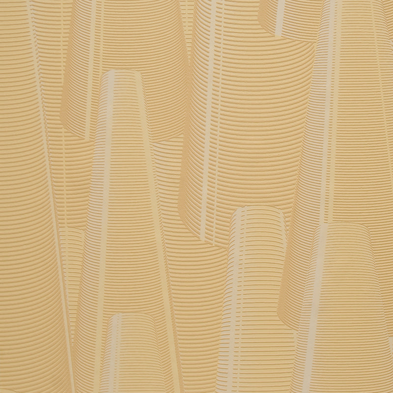 Ochre Cone Geometric Wallpaper R2292