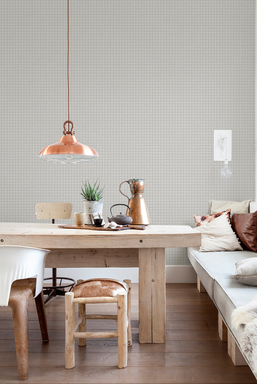 Cool Grey Puppytooth Geometric Wallpaper R2544 . Geometric wallpaper.