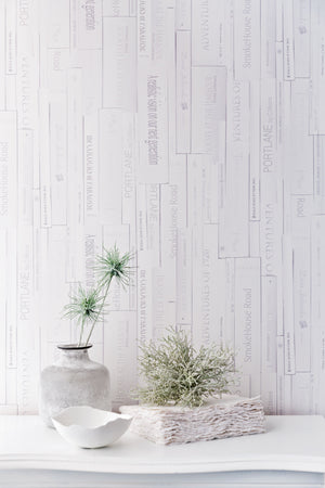 Cool Grey Books Contemporary Wallpaper R2557