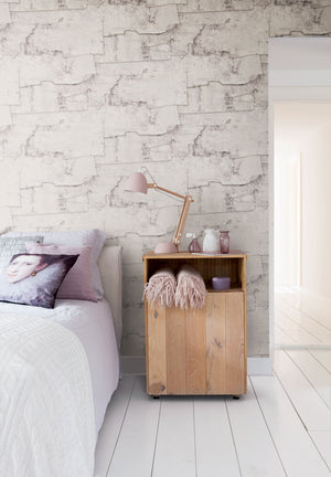 Cool Grey Birch Bark Wallpaper R2580  | Nature Inspired Home Interior