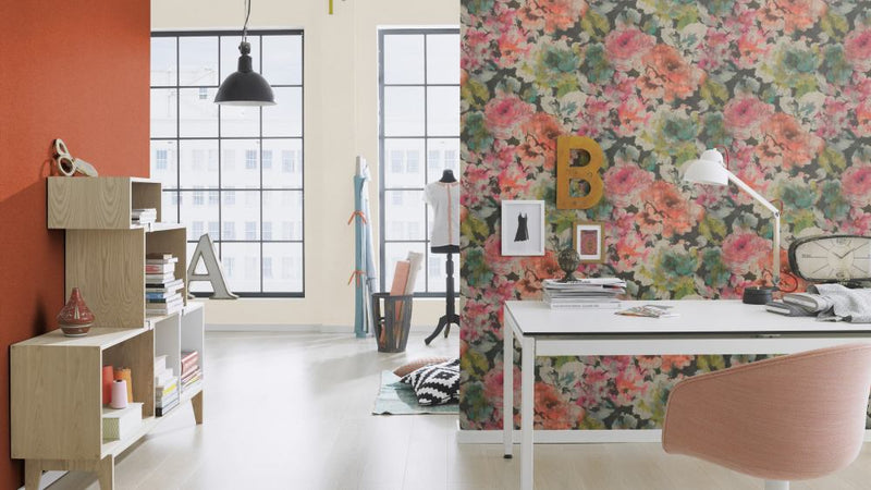 Bold Floral Abstract Watercolor Wallpaper R4758