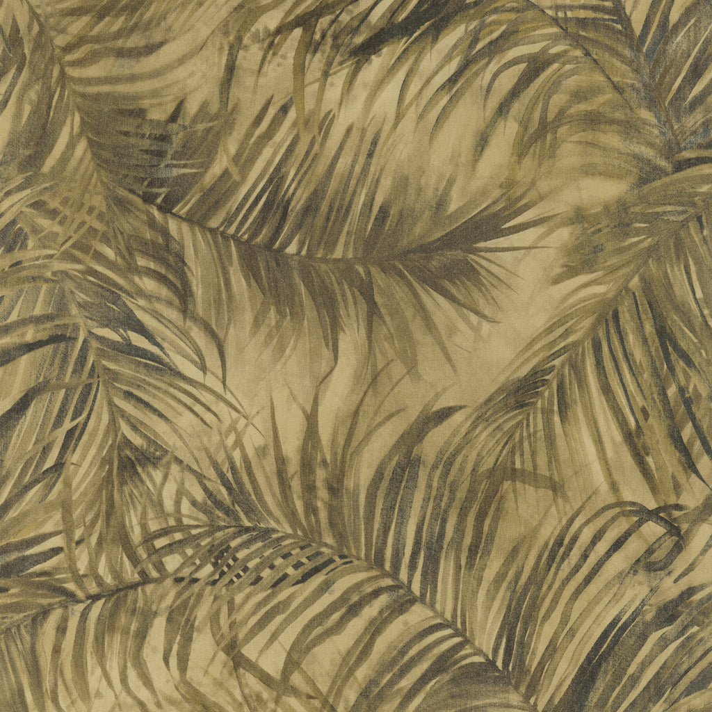 Gold Fan Palm Tropical Wallpaper R2689
