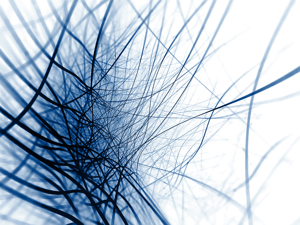 Blue Abstract Strands Mural Wallpaper M9331
