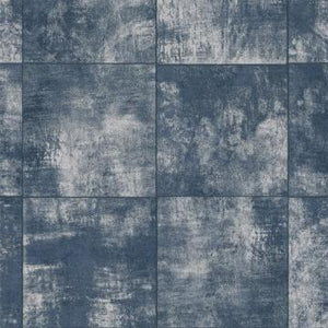 Weathered Tile Navy Grind Wallpaper R4388