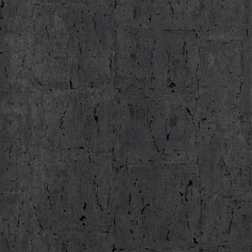 Marbled Metallic Black Natus Wallpaper C7162