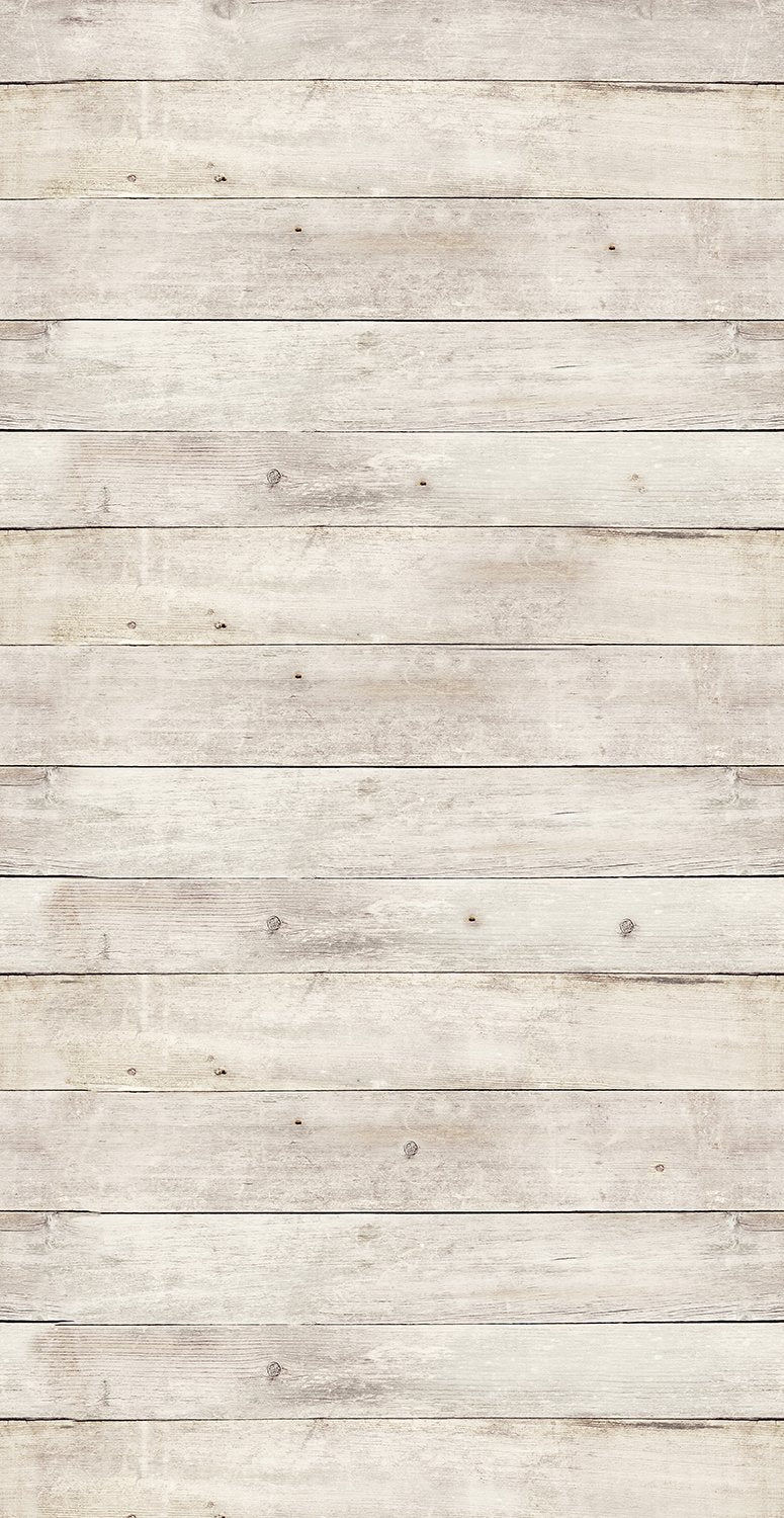 White Washed Wood Mural Wallpaper M9157