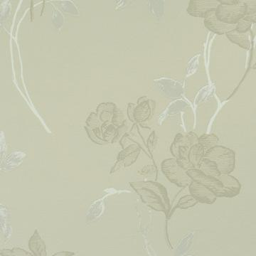 Playful Beige Floral Wallpaper SR1574
