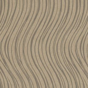 Modern Taupe Waves Wallpaper R3641