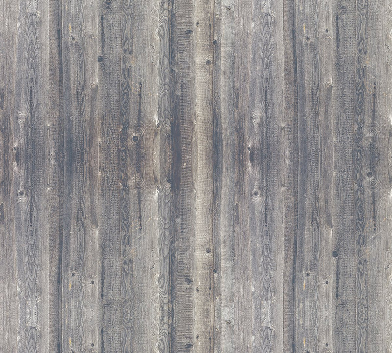 Brown & Grey Burnished Wood Wallpaper M9228 - Sample
