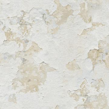 Cloudy Stucco Wallpaper Taupe and White R4794