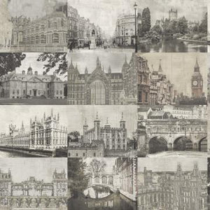 Sepia Architectural Collection Wallpaper R4816 | Vintage Wallpaper
