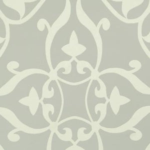 Elegant Silver Damask Wallpaper SR1559