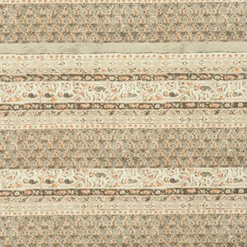 Woven Grey & Orange Stripe Paisley Wallpaper SR1109 | Home Interior