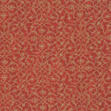 Red Ornamental Damask Wallpaper SR1140