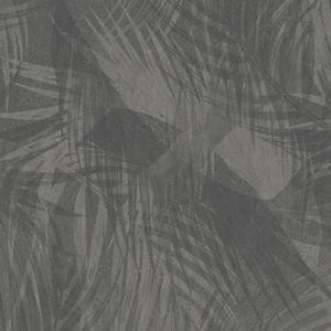 Jungle Leaf Cutout Wallpaper Mural Black and Taupe M9267