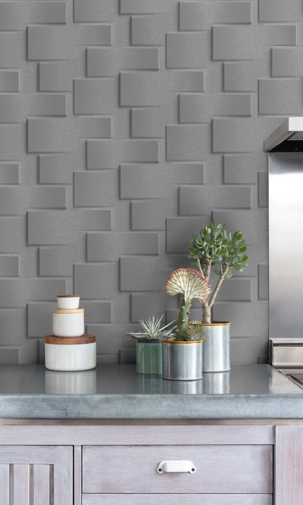 geometric kitchen wallpaper ideas