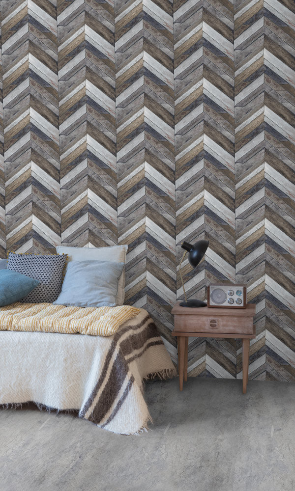faux wood rustic bedroom wallpaper