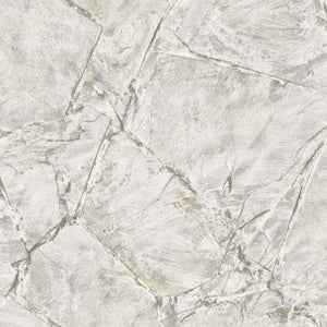 Scratched Stone Tile Wallpaper Grey and White R4763