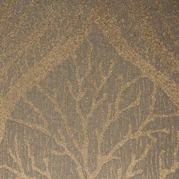 Transitional Glass Bead Bronze Mystical Forest Wallpaper R3615