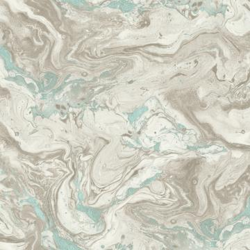 Marbled Jewel Wallpaper Grey and Blue R4798