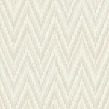 Metallic Static Zigzag Abstract Wallpaper Grey and White R4682