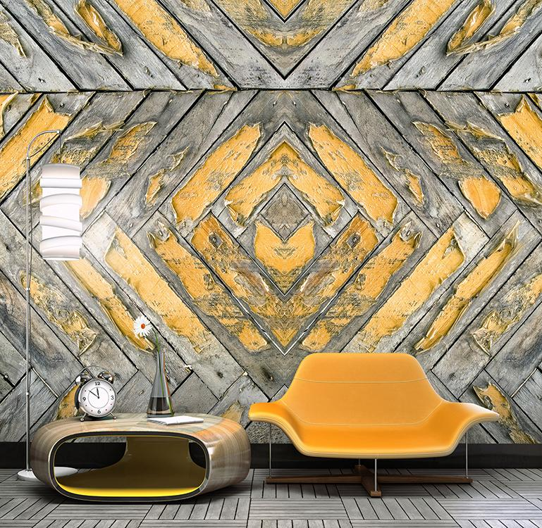 Ochre Peeled Wallpaper M8924